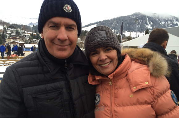 12. Nicolas Winckler (Megève People) et Marithé Crozet, directrice de l'Office du tourisme de Megève