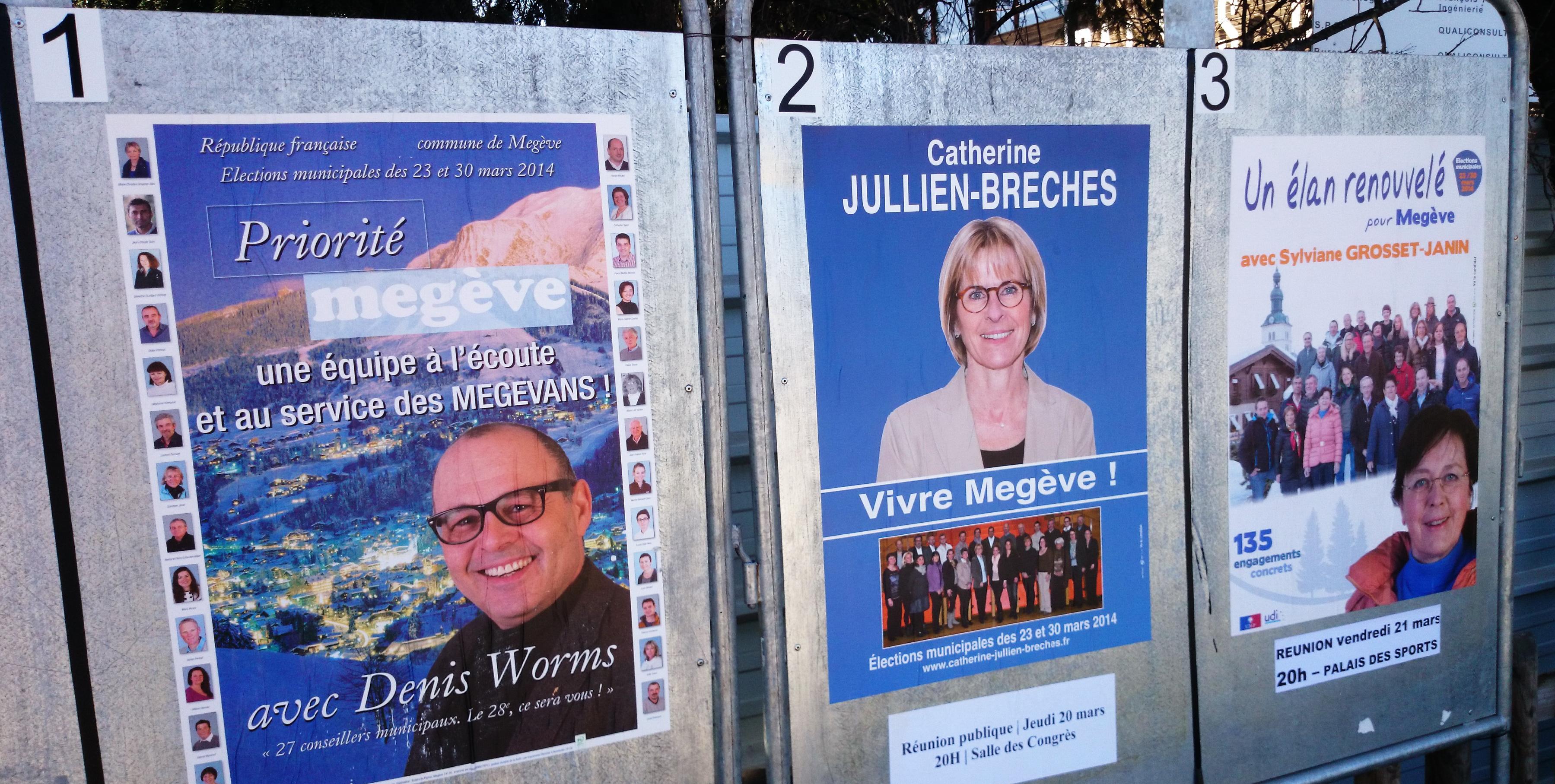 Municipales Megève 2014. Les résultats du premier tour