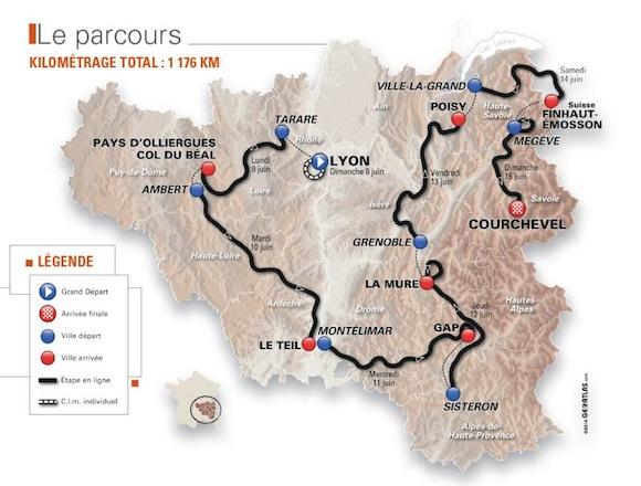 Critérium du Dauphiné 2014. La dernière étape s'élancera de Megève