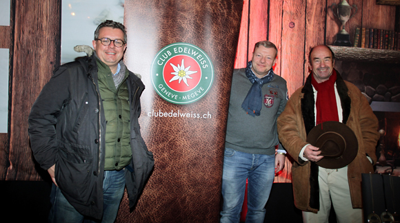 21. Nicolas Chomette (Arthur Loyd Brice Robert), Guillaume Chalvin, fondateur du Club Edelweiss et Maître Olivier Wasmer, avocat à Genève