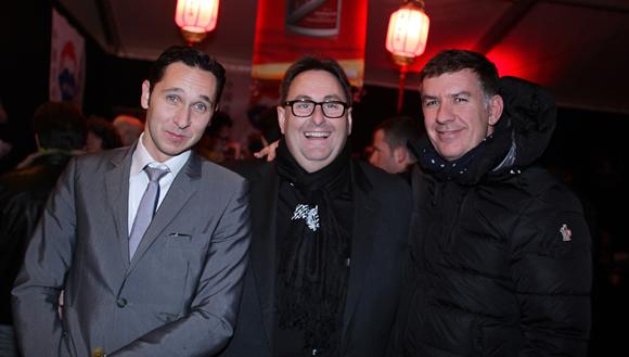 9. Julien Costa (Lodge Beef Logde), Fréderic Pouydebat, directeur des Fermes de Marie, et Nicolas Winckler (Megève People)