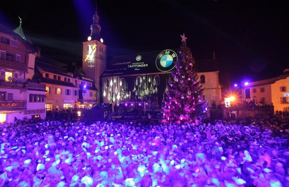 Illumination du sapin de Megève 2015. Toutes les photos